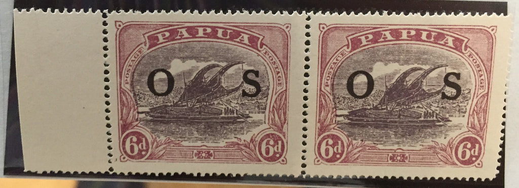 Papua 1931-32 OFFICIAL 6d dull purple and red purple SGO62/a