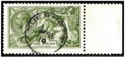 "Great Britain 1913 £1 Green ""Seahorses"", SG403"