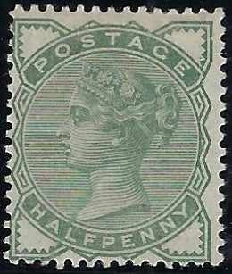 Great Britain 1880 ½d Deep green (No watermark). SG164b
