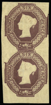 Great Britain 1854 6d Dull lilac (watermark reversed), SG59