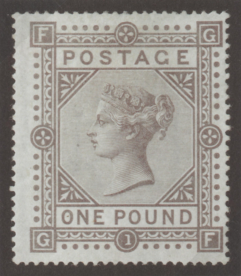 Great Britain 1878 (26 September) £1 Brown-lilac (Plate 1) SG129