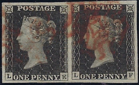 Great Britain 1840 1d Grey black Plate 1a. SG3