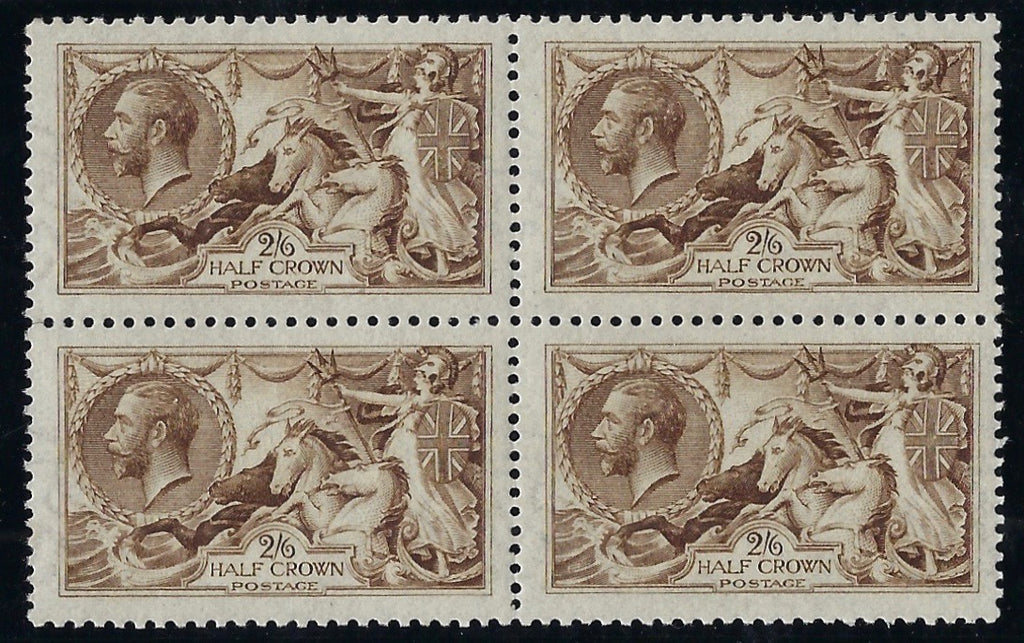 Great Britain 1915 2s6d Yellow brown (watermark reversed). SG406wj