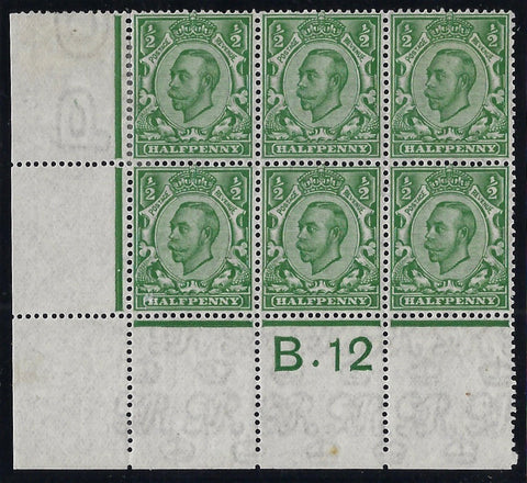 Great Britain 1912 ½d Green (Watermarked Multiple Cypher). SG346