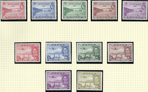 Papua (British New Guinea) 1938 (6 Sept) 2d to 1s mauve set of 5, SG158/162