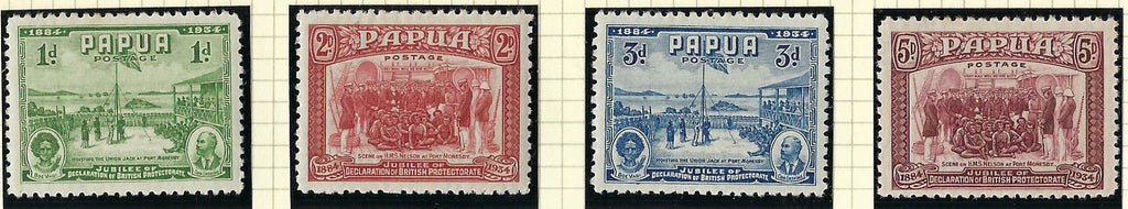 Papua (British New Guinea) 1934 (6 Nov) 1d to 5d purple set of 4, SG146/49.