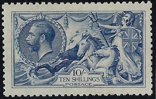 Great Britain 1915 King George V 10s Deep blue, SG411