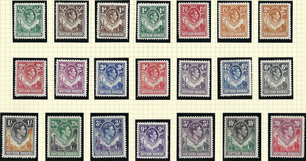 Turks and Caicos Islands King George VI 1950 ½d to 10s black and violet set of 13, SG221/233.