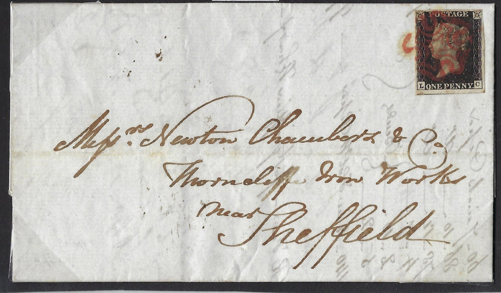 Great Britain 1840 1d Black Plate 10, SG2