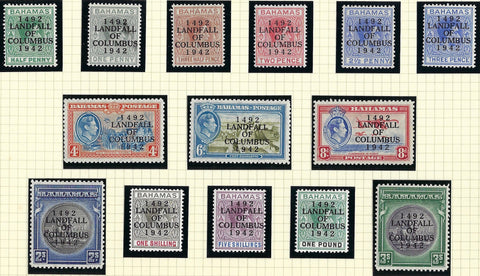 Bahamas 1942 (12 Oct) King George VI SSG162/175a