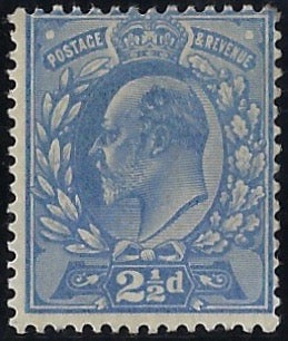 Great Britain 1901 2½d Colour trial. SG230var