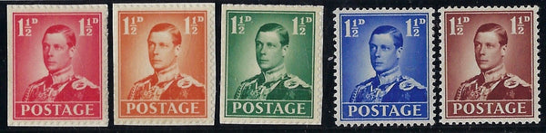 Great Britain 1936 1½d Edward VIII Coronation essays. SG459var