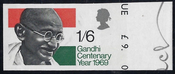 Great Britain 1966 1s6d Gandhi Centenary Year.  SG807var