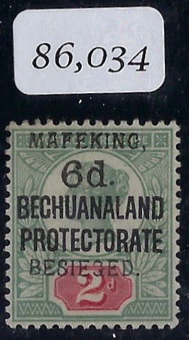 South Africa Mafeking 1900 6d on 2d green and carmine, SG8