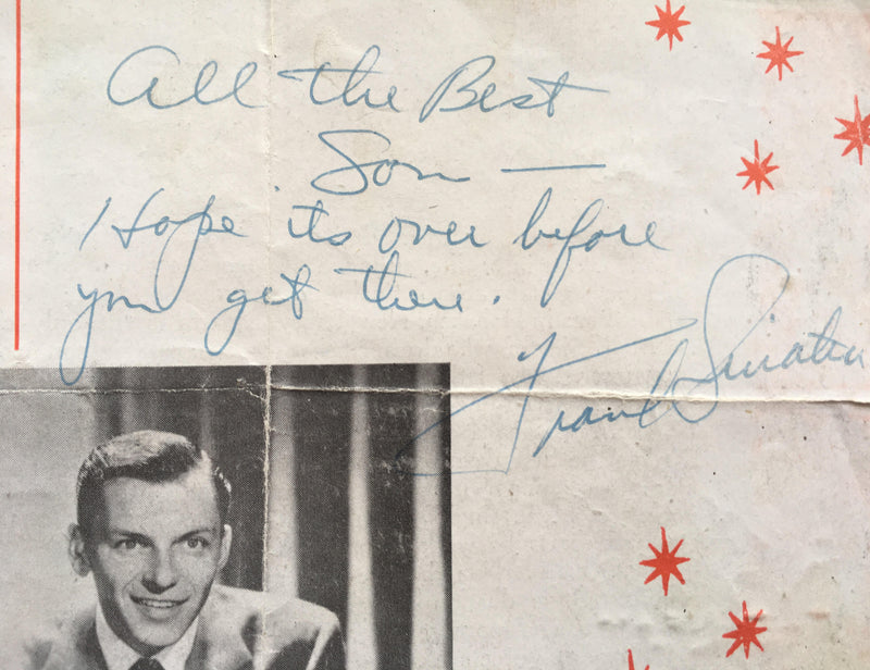 Frank Sinatra signed and inscribed programme