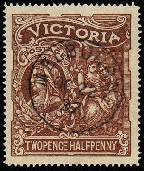 Victoria 1897 'HOSPITAL CHARITY' 2½d (2s6d) red-brown SG354