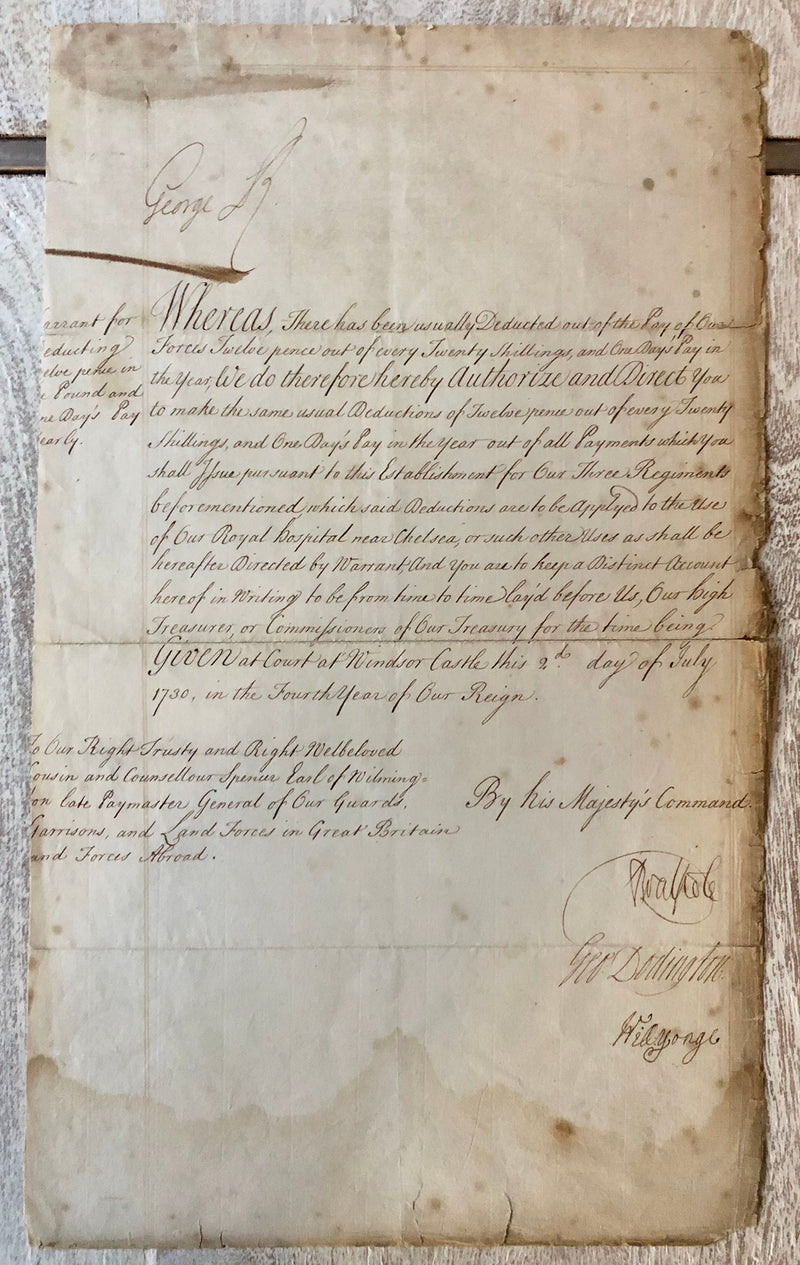 George II Robert Walpole Signed