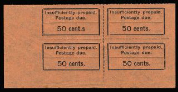 Zanzibar 1926-30 POSTAGE DUE 50c black/orange SGD16/a