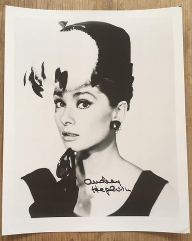 Audrey Hepburn signed Breakfast at Tiffany's headshot