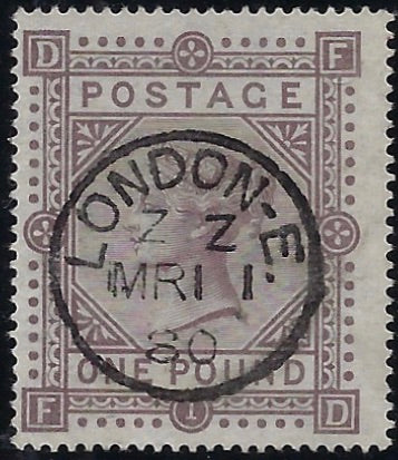 Great Britain 1878 £1 Brown-lilac Plate 1. SG129