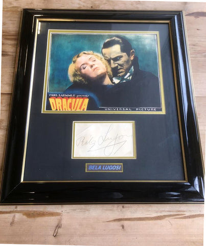 Bela Lugosi autograph display