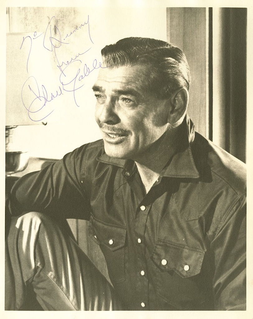 Clark Gable signed photograph