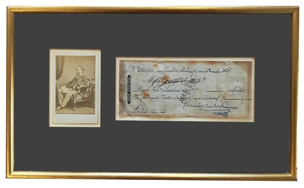 Charles Dickens signed cheque