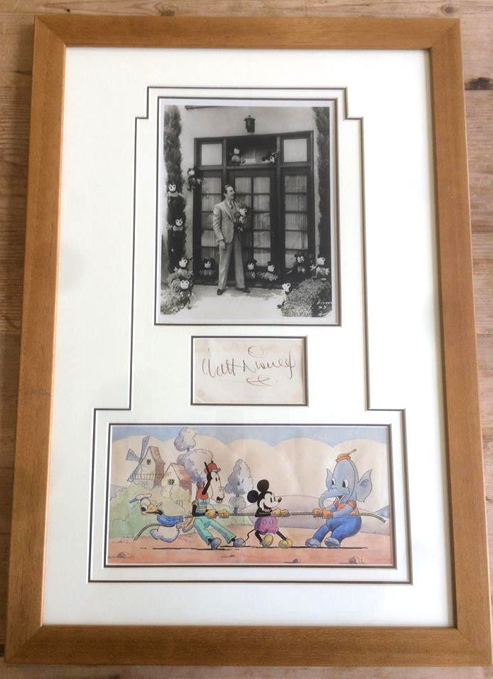 Walt Disney early signature and original photograph