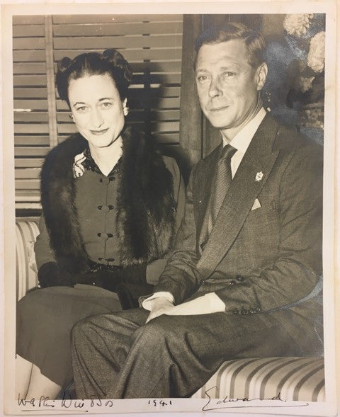 Edward VIII Wallis Simpson signed photo