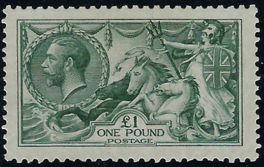 Great Britain 1913 £1 Blue green, SG404