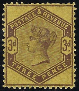 Great Britain 1884 3d Colour trial, SG191var