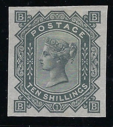 Great Britain 1878 10s greenish grey plate 1. SG128var.