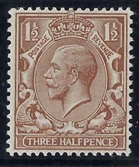 Great Britain 1919 1½d Pale brown, SG363var
