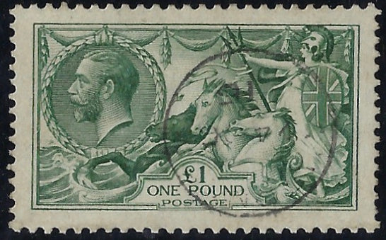 Great Britain 1913 £1 Green