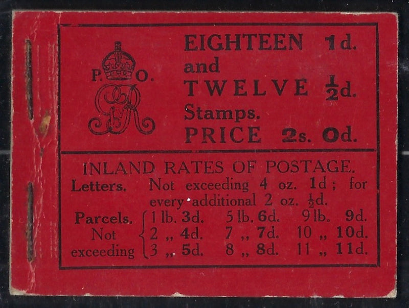 Great Britain 1912 2s0d Booklet (Watermark Crown, Edition 11), SGBB2