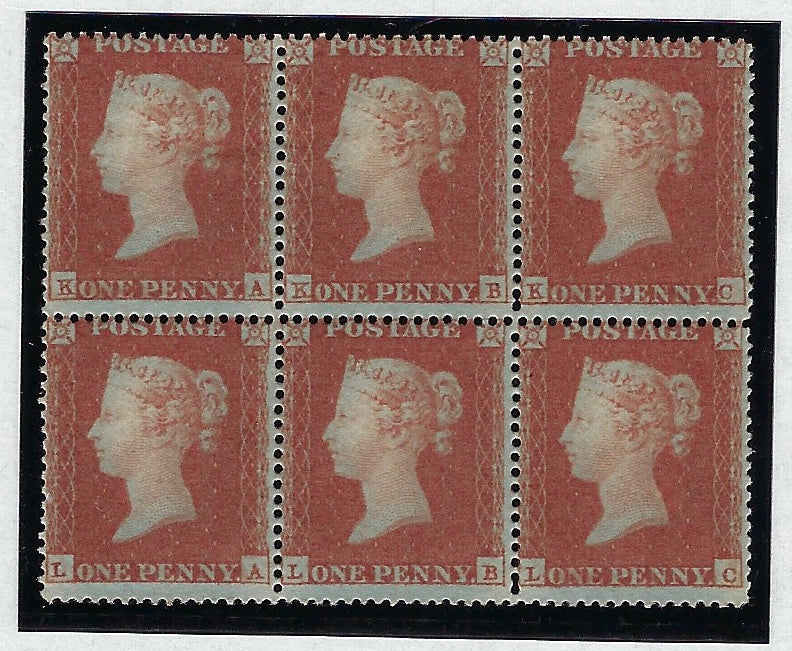 Great Britain 1850 1d red brown