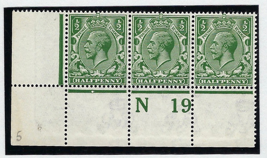 Great Britain 1919 King George V, G306d very deep green. SG353var