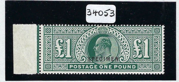 Great Britain 1911 £1 deep green SG320var.