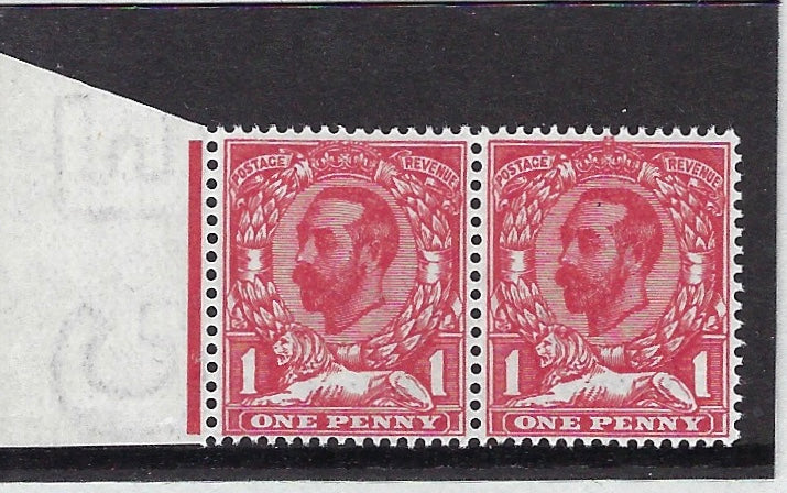 Great Britain 1911 1d pale carmine (Die 1a), SG328a