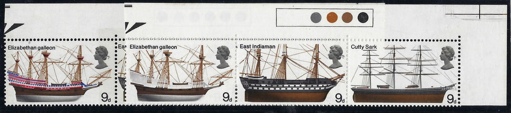 Great Britain 1969 9d British ships. SG779ab