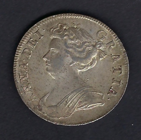 England, Stuart. King (reign): Anne (1702-1714) Silver Crown, Half.  Good extremely fine.