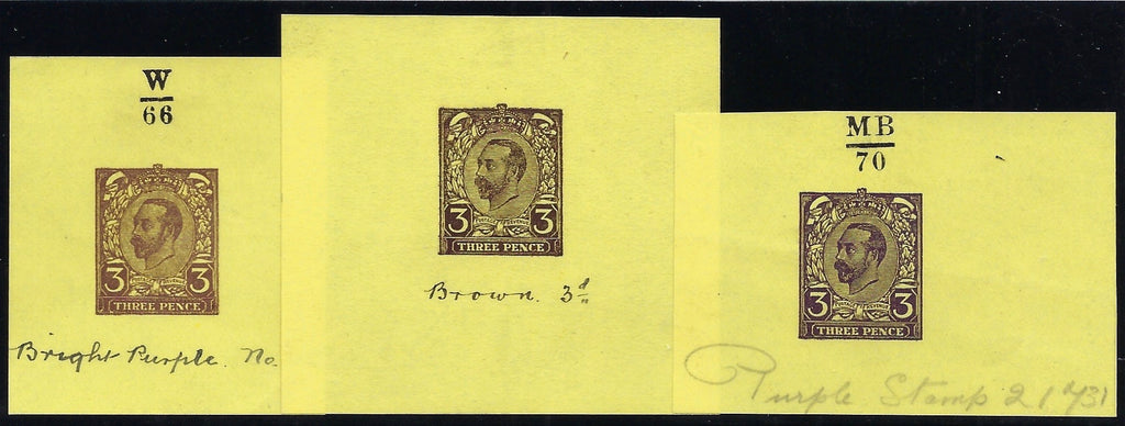 Great Britain 1911 3d Hentschel essay (second proof).
