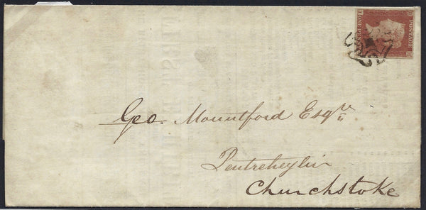 Great Britain 1841 1d Red brown SG8 PL19