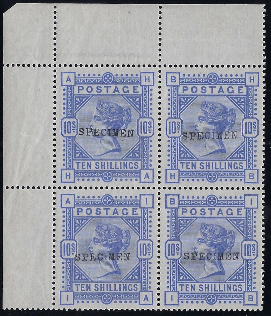 Great Britain 1884 10s Cobalt (white paper). SG 182s