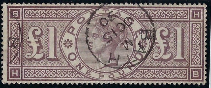 Great Britain 1884 £1 Brown-lilac Plate 1, SG185