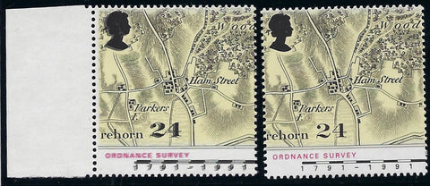 Great Britain 1991 24p Bicentenary of Ordnance Survey, SG1578ea.
