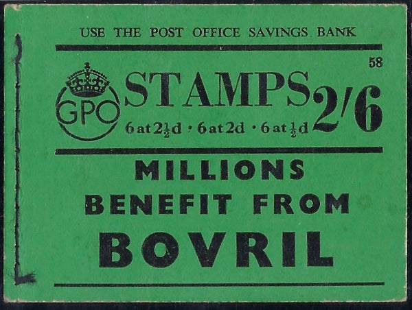 Great Britain 1940 2s6d Booklet (Edition No.58), SG BD15