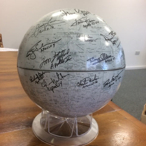 Apollo Astronaut Signed Moon Globe