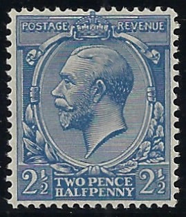 Great Britain 1924 1½d Blue (No Watermark). SG422a
