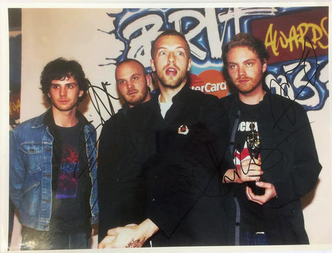Coldplay signed photograph